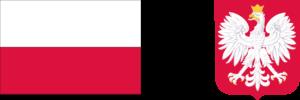 Biało-czerwona flaga Rzeczypospolitej Polskiej, wizerunek godła Rzeczypospolitej Polskiej